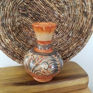 Vintage South American Flower Vase Hand Pa…